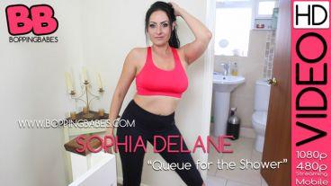 "Sophia Delane ""Queue For The Shower"""