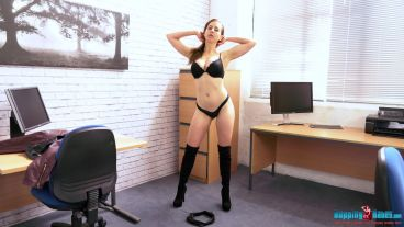 tindra-frost-office-stripper-123